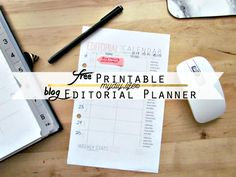FREE weekly printable editorial calendar #blogging #editorialcalendar