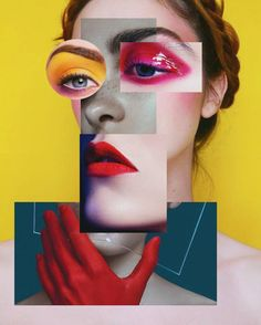 portrait art Original Portrait Collage by Sephora Venites Mode Collage, Art Du Collage, Collage Design, Collage Photo, Collage Of Photos, Makeup Collage, Collage Drawing, Collage Artists, Art Collages