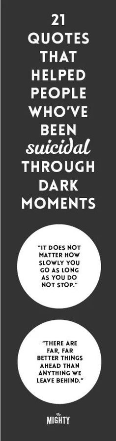 21 Quotes That Helped People Who've Been Suicidal Through Dark Moments #mentalhealth Suicide Quotes, How To Stop Snoring, Depression Support, Spiritus, Sharing Quotes, Health Quotes, How To Relieve Stress, Inspirational Quotes, Frases