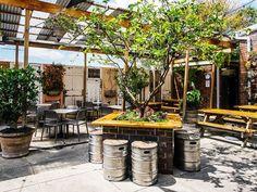 Brewery Design, Pub Design, Outdoor Cafe, Outdoor Dining, Outdoor Restaurant Design, Garden Cafe, Garden Seating, Beer Bar, Lounge