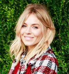 Sienna Miller's perfectly tousled strands are the epitome of cool girl chic