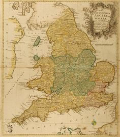 England and Wales (1760) #map #england #wales #uk