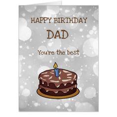 Large Happy Birthday Dad Design Card