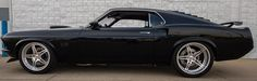 """Is it true that Elvira is Eleanor's meaner, younger sister? Steve's """"Elvira"""" 1969 Ford Mustang Boss 600 is powered by a 600ci fuel-injected engine mated to a 6-speed manual transmission and rides on Detroit Speed's 4-link rear suspension, Wilwood disc brakes, and Forgeline SP3P wheels finished with Polished centers & Polished outers! See more at: http://www.forgeline.com/customer_gallery_view.php?cvk=1832 #Ford #Mustang #protouring #Forgeline"""