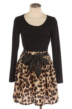 leopard skirt dress  Order from - http://www.facebook.com/#!/pages/Hey-Good-Lookin-Boutique/365284796885361