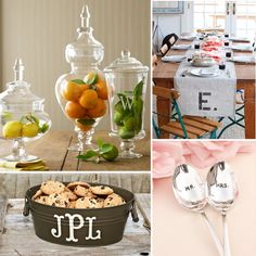 Personalized Home Decor - all of these would make amazing housewarming gifts!