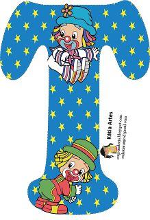 Alfabeto de los payasos Patatí Patatá. Clown Party, Cute Letters, Alphabet And Numbers, Alphabet Letters, Send In The Clowns, Letter T, Circus Theme, Pattern Images, Smurfs