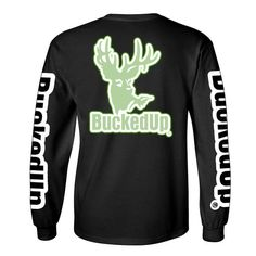 Tag someone you  for Valentine's Day  LONG SLEEVE BLACK WITH GLOW REFLECTIVE LOGO Please visit BuckedUpApparel.com  #buckedup #hunting #deer  #country #monsterjam #countrygirl #countryboy #countrymusic #redneckgirl #outdoorsy #glowinthedark #trucks #deerseason #bowhunting #outdoors #shedhunting #antlerswithattitude #vday #mudding #getbuckedup #valentines2016 #happyvalentinesday
