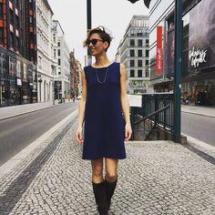 169,50€  #aymara #knitwear #hawai #pimacotton #ink #dress available at https://www.goodshaus.com/Kleid-Hawai-Ink-Blue-AYMARA