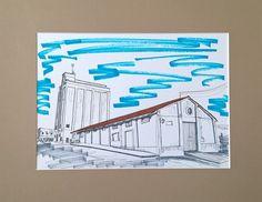Patrimonio Industrial Arquitectónico: Mis dibujos industriales. Silo de Villanueva del F...