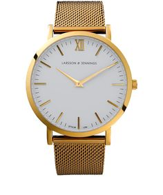 Simple Classic Larsson and Jennings Gold-Plated Chain Metal Watch