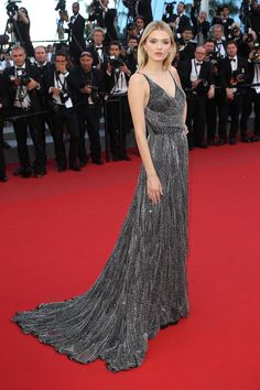 Cannes red carpet—Lily Donaldson in Saint Laurent