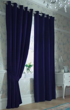 Navy Blue Curtains Or Maybe Find Teal