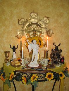 Altars:  Pagan Midsummer 2012 Altar.
