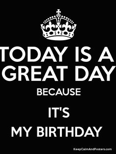 Keep Calm and IT'S MY BIRTHDAY  Poster