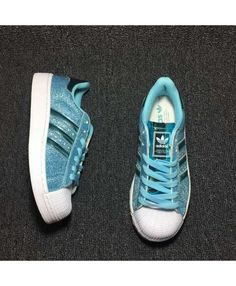 00ea7272b0df Adidas Superstar Glitter Skyblue Womens Shoes Style looks very trendy