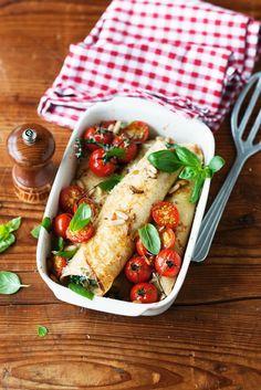 Crespelle Recipe, Pie Recipes, Cooking Recipes, Pancakes, Vegan Pie, Vegetarian Recipes, Healthy Recipes, Pizza, Italian Recipes