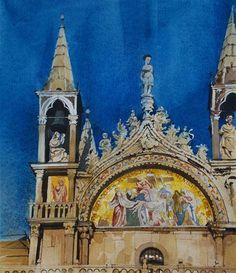 """San Marco - Blue Sky"" by David Morris"