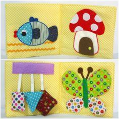 Basic Skill Busy Book - Baby activity book- Toddler Cloth Book - Preschool Soft Book - Busy Book