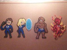 Fantastic Four Perler Bead Sprites by Primalstrike.deviantart.com on @DeviantArt