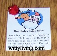 girl scout swap idea rudolphs nose