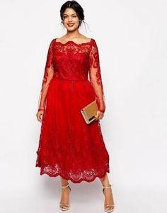 Resultado de imagem para modelos de vestidos tubinhos com gola em v para gordinhas vermelho