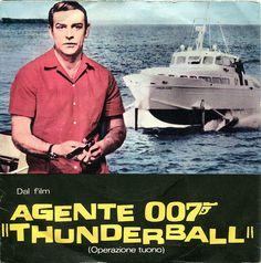 BOB MITCHELL and his ORCHESTRA: AGENTE 007 THUNDERBALL (OPERAZIONE TUONO) JAMES BOND Jolly J 20345x45. RARE GATEFOLD COVER