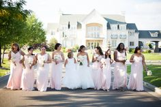 Gorgeous Bride and Bridesmaids shot! | The Chateaux at Fox Meadows | Booze Photography |