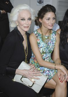 Carmen Dell'Orefice and Olivia Palermo attend the Stephane Rolland Haute Couture Fall/Winter 2011/2012 show