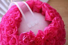 tissue rosette kissing balls