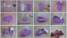 Baby croc shoe fondant tutorial