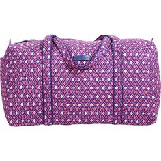 Vera Bradley Large Duffel ($65) ❤ liked on Polyvore featuring bags, luggage, all purpose duffels, duffels and pink