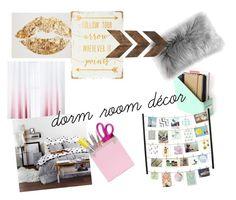 """•Dorm Room Decor•"" by jordynf24 on Polyvore featuring interior, interiors, interior design, home, home decor, interior decorating and WALL"