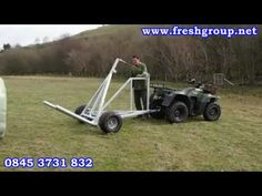 Hay Feeder Self Loading Single Round Hay Bale Trailer
