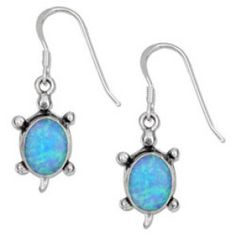 Sterling Silver Synthetic Blue Opal Turtle Earrings on French Wires >>> More info could be found at the image url. Sea Turtle Jewelry, Turtle Earrings, Sterling Silver Earrings, Silver Jewelry, Wire Earrings, Silver Charms, Jewelry Stores, Jewelry Sets, Jewelry Rings