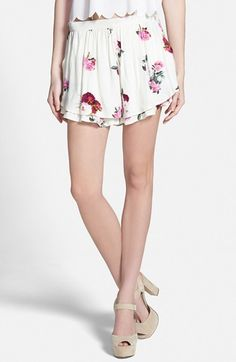 MINKPINK 'Pink Petals' Print Shorts available at #Nordstrom
