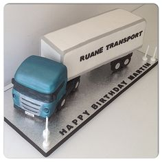 Hand painted Scania Truck cake