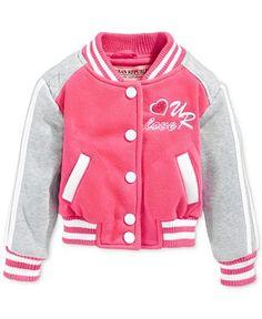 Urban Republic Girls' or Little Girls' Varsity Jacket - Kids Toddler Girls (2T-5T) - Macy's