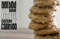 Salted Brown Butter Oatmeal Chocolate Chip Cookies