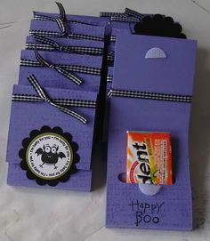 The Willow Garden: Ok, so one more Halloween post! Halloween Treat Holders, Halloween Favors, Halloween Goodies, Halloween Cards, Halloween Treats, Halloween Paper Crafts, Candy Crafts, 3d Paper Crafts, Paper Crafting