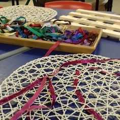 Weaving today on the funky fingers table. I got the round weaving mat from I think it's supposed to be a dining table mat! Motor Skills Activities, Fine Motor Skills, Finger Gym, Funky Fingers, Eyfs, Early Learning, Fig, Things To Think About, Ikea