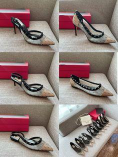 Valentino woman mesh style rockstuds high heels flats sandals Valentino Women, Valentino Shoes, Flat Sandals, Flats, High Heels, Heaven, Mesh, Woman, Style