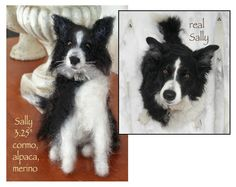 "Needle Felt Animal ""Portraits""."