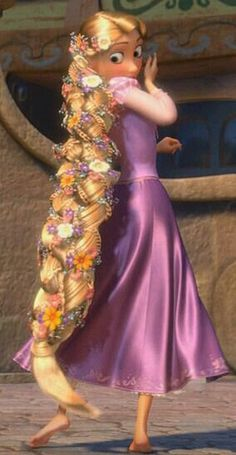 Rapunzel - My daughter and I have watched this movie dozens of times. She even carried her own frying pan to Disney to have Rapunzel sign it! Disney Rapunzel, Walt Disney, Rapunzel And Flynn, Princess Rapunzel, Disney Girls, Disney Magic, Disney Art, Disney Movies, Disney Characters
