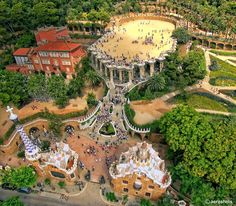 Park Güell  #Barcelona #Catalonia Park Güell as you never seen before! …