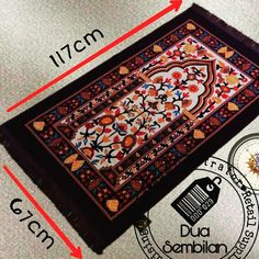 Sajadah | Sejadah | 67 by 117cm | Islamic Carpets | Muslim Prayer Mats | Solat | Contemporary & Vibrantly-Coloured Sejadah | Soft Velvet Feel | Islamic Art | Islamic Patterns & Tradition | Ottoman Patterns | Wedding Favours | Hajj Favours | Various Motifs & Designs | Light Weight | Wedding Door Gifts | Singapore Malay Wedding Souvenirs | Berkat Majlis Pernikahan | Majlis Khatam Quran | Berkat Majlis Berkhatan | Akad Nikah | Cukur Rambut | TunangSG | Dua Sembilan | Duaa Sembilann