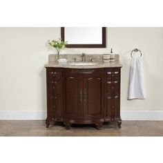 Shop for Dover Chestnut Wood 42-inch Vanity with Backsplash and Granite Top. Get free delivery at Overstock.com - Your Online Furniture Outlet Store! Get 5% in rewards with Club O!