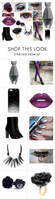 """""""Violet #4"""" by silliavinete8 ❤ liked on Polyvore featuring Casetify, Lime Crime, Barbara Bui, Nach Bijoux, formal, goth, fancy, violet and OC"""