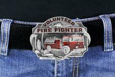 Volunteer Fire Fighter (Fire Department) Belt Buckle