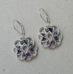 How to Make Chainmail Earrings | chainmaille earrings by lace metal handmade chainmaille earrings ...
